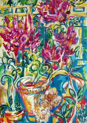 big_Sonnenblumen Ölmalerei Kunst