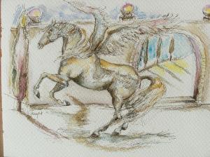 Blaues-Pferd-Traum-Nadia-Baumgart