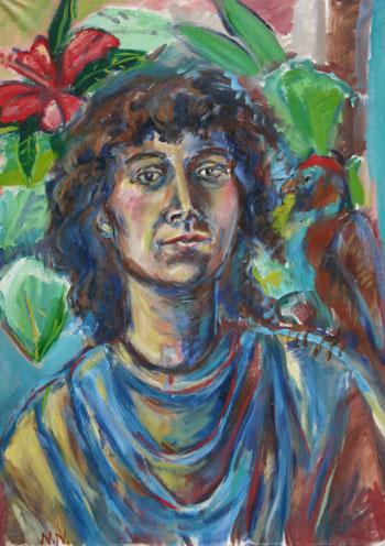 Portrait%20mit%20Hibiskus