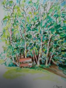 Rotgrüne-Spielerei-Auqarell-Watercolour-Nadia-Baumgart-neu