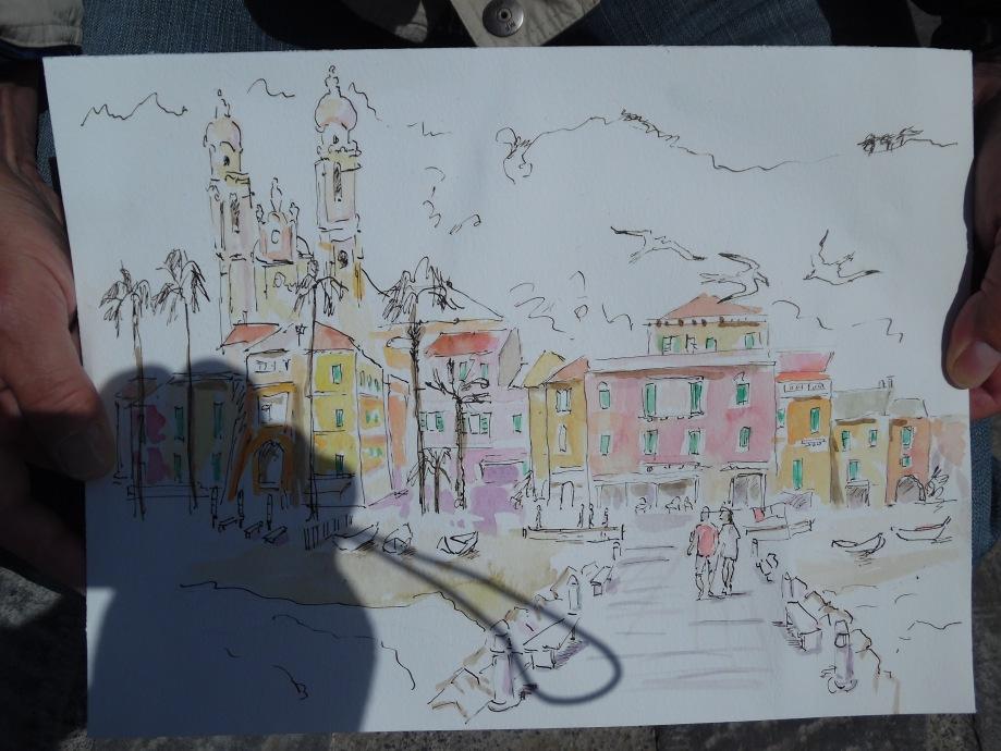 9-Aquarell-Zeichnung-Laigueglia