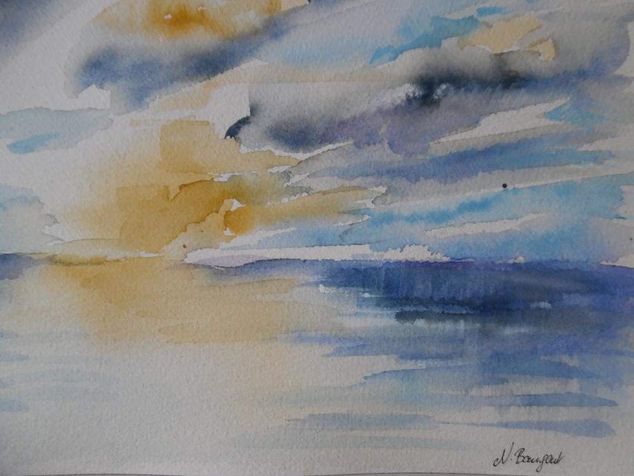 Mare-Meer-Aquarell-Nadia-Baumgart