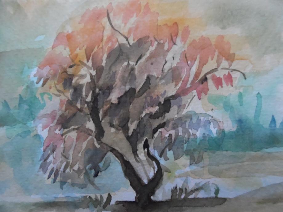 Albero-Baum-Tree-Aquarell-Nadia-Baumgart