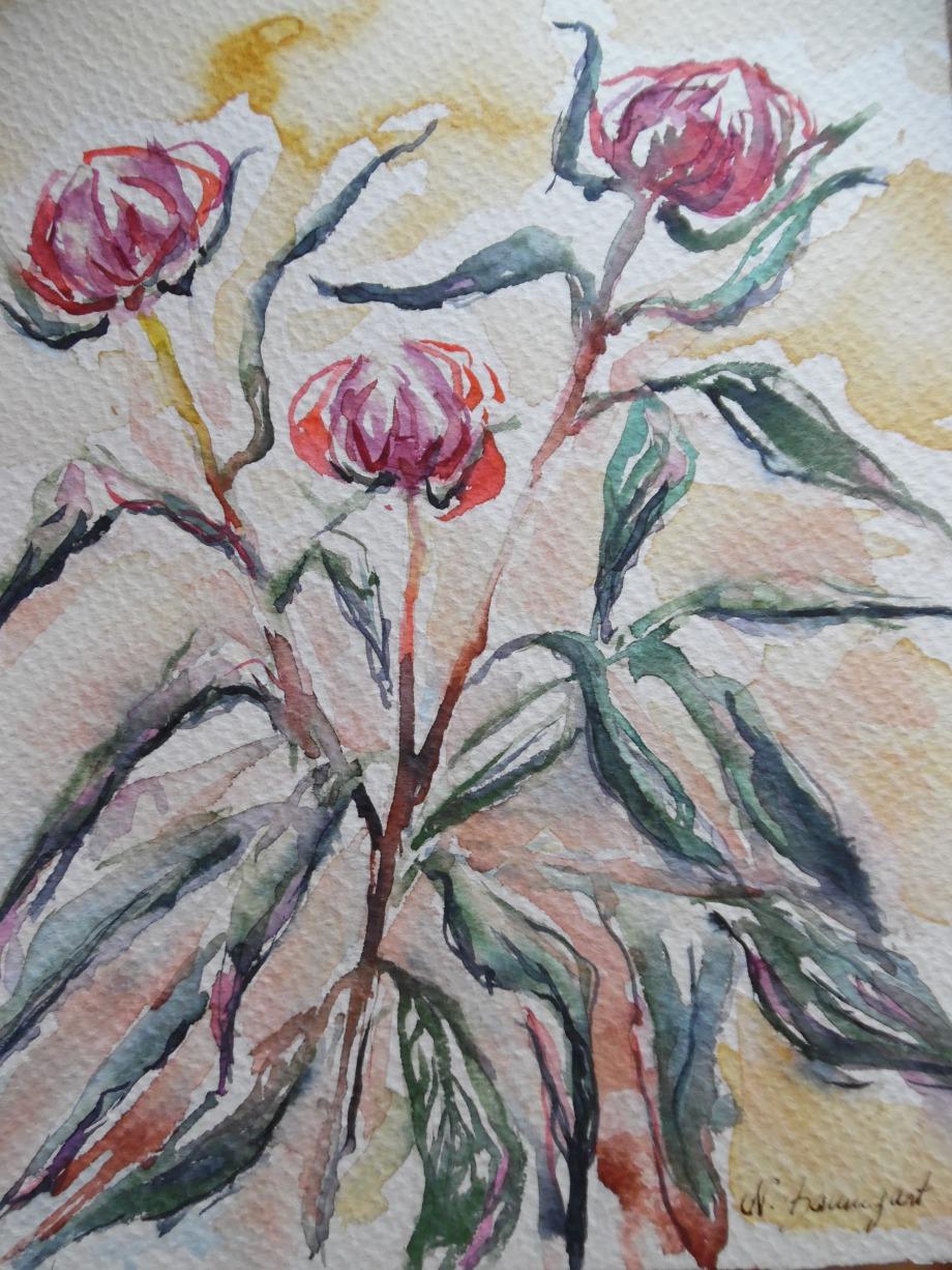 Blumen-Flowers-Aquarell-Nadia-Baumgart