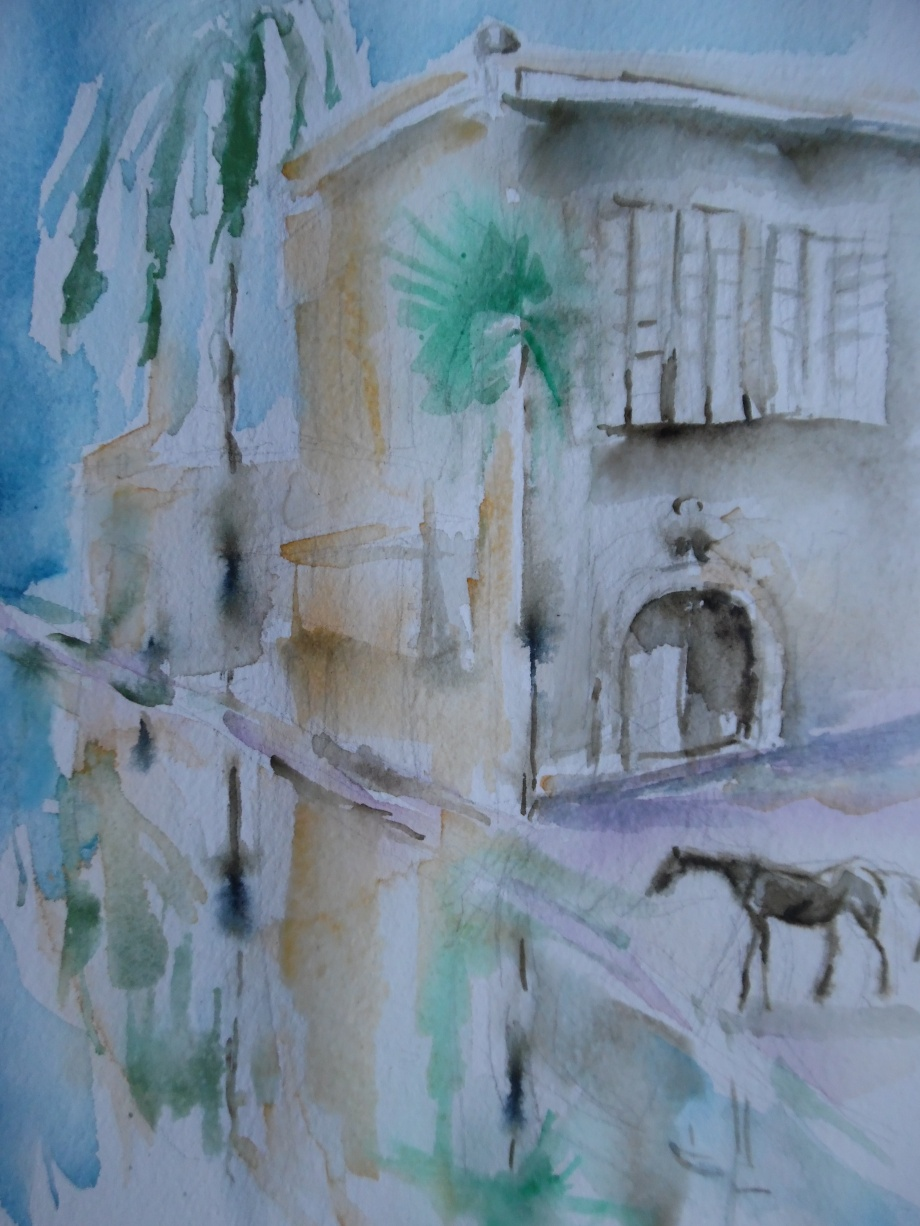 Nostalgie-Watercolour-Aquarell-Nadia-Baumgart