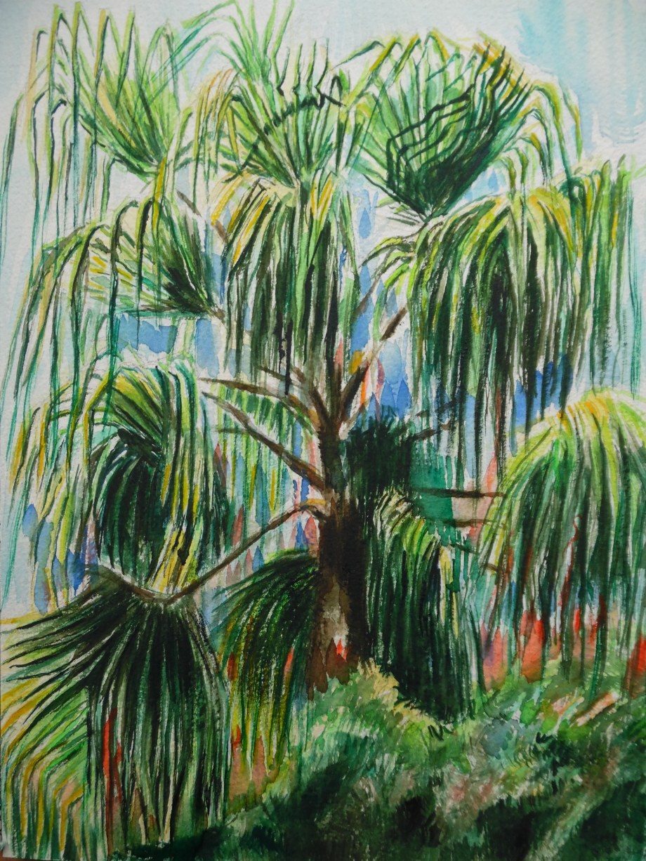 Palm-Palme-Aquarelle-Watercolour