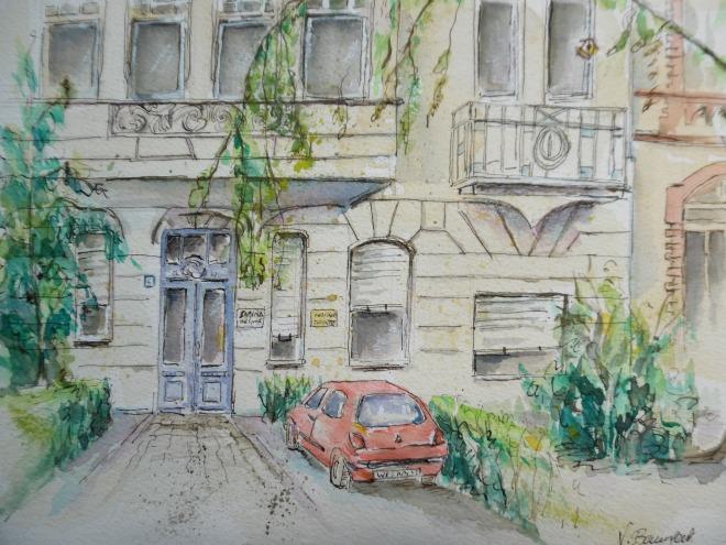 Wiesbaden-Rheingauviertel-Aquarell-Nadia-Baumgart