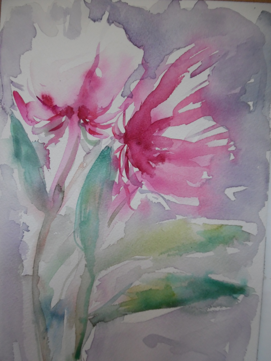 Blume-Flower-Aquarell-Nadia-Baumgart