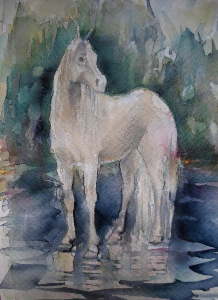 Cavallo-bianco-Horse-Pferd-Aquarell-Nadia-Baumgart