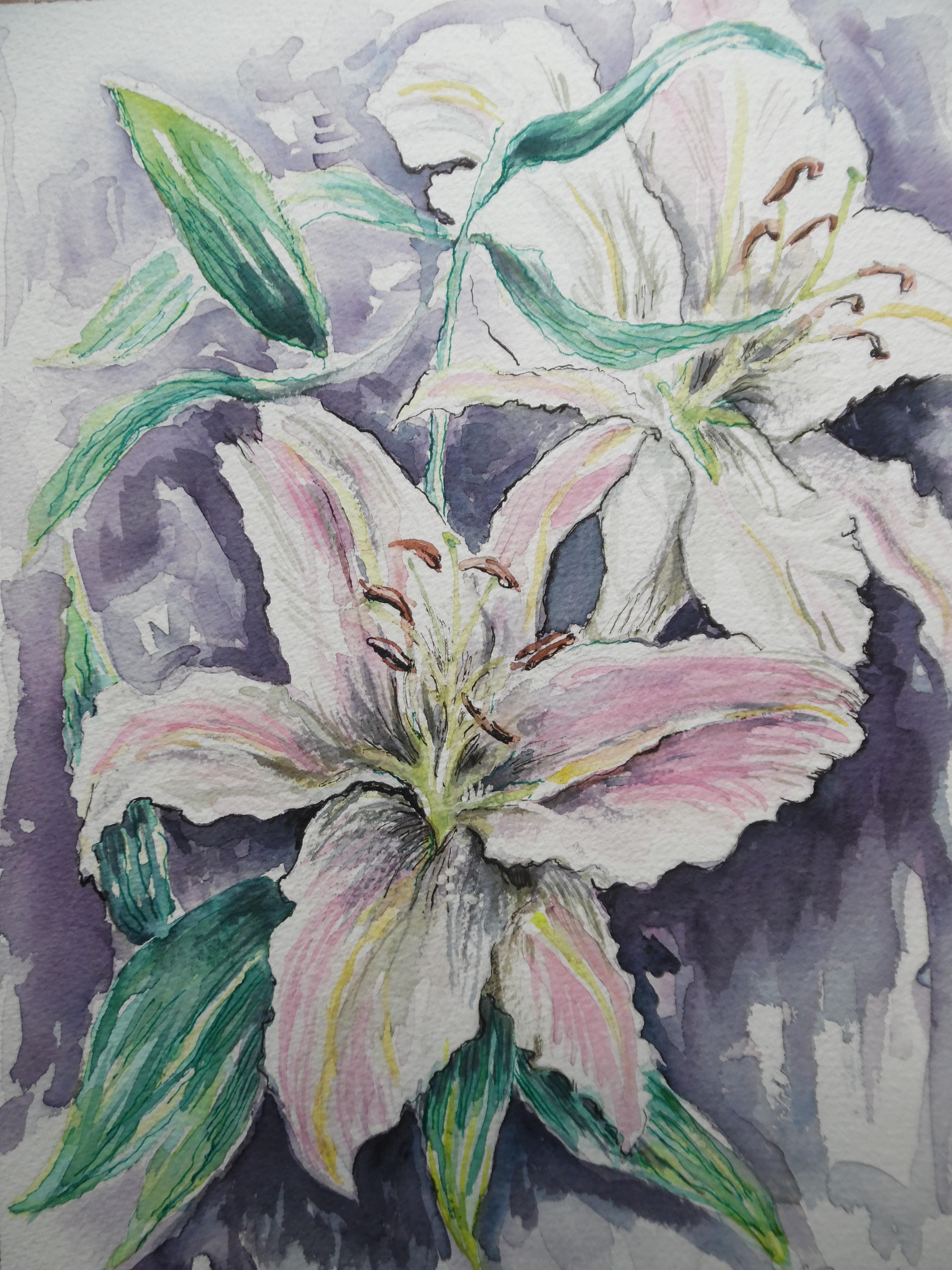Flower-Blumen-Watercolour-Aquarell-Nadia-Baumgart