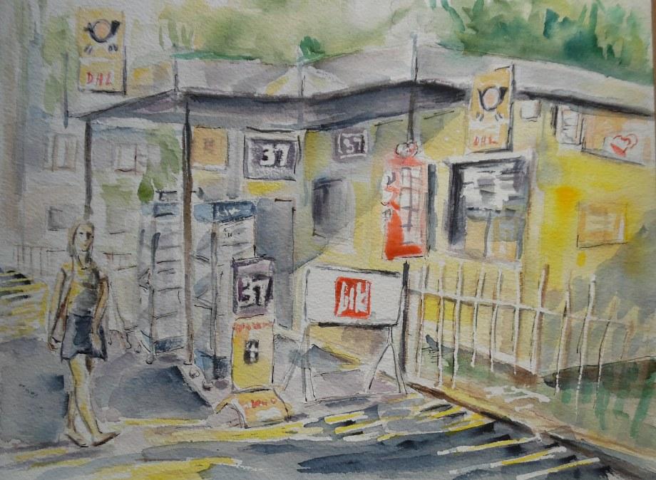 Kiosk-Nerotal-Aquarell-Watercolour-Wiesbaden-Nadia-Baumgart