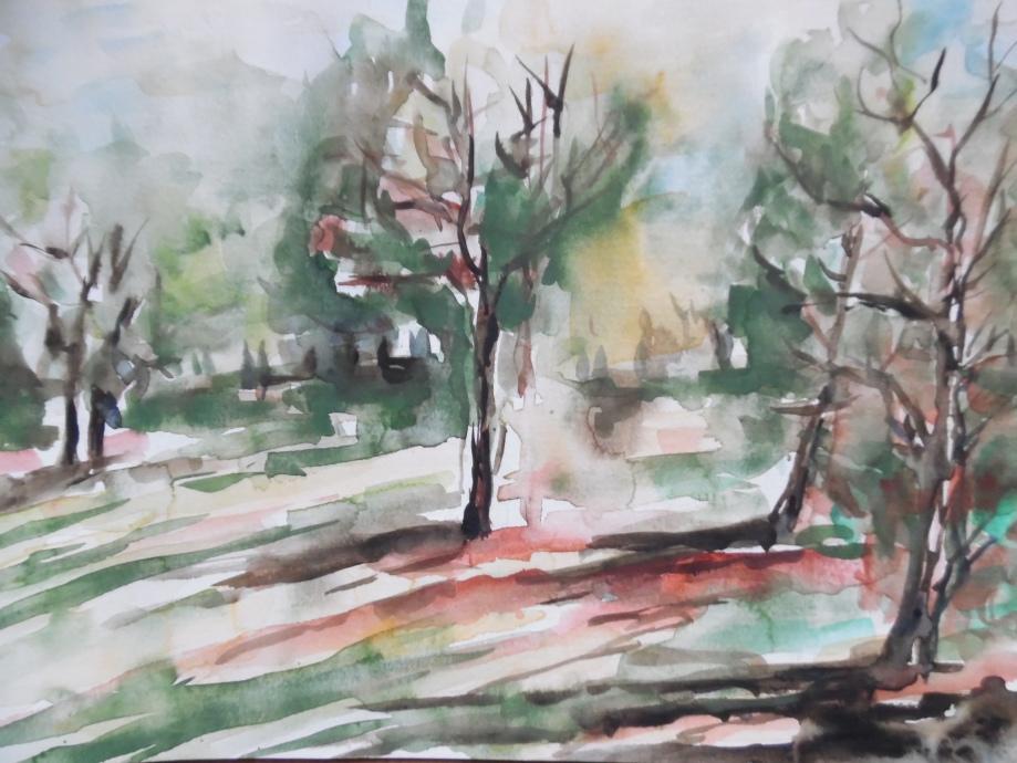 Park-Wiesbaden-Aquarell-Watercolour-Nadia-Baumgart