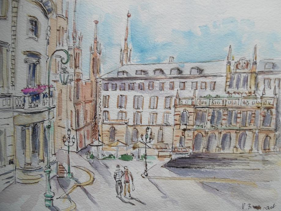 Rathaus-Marktkirche-Landtag-Wiesbaden-Geschenkidee-Nadia-Baumgart