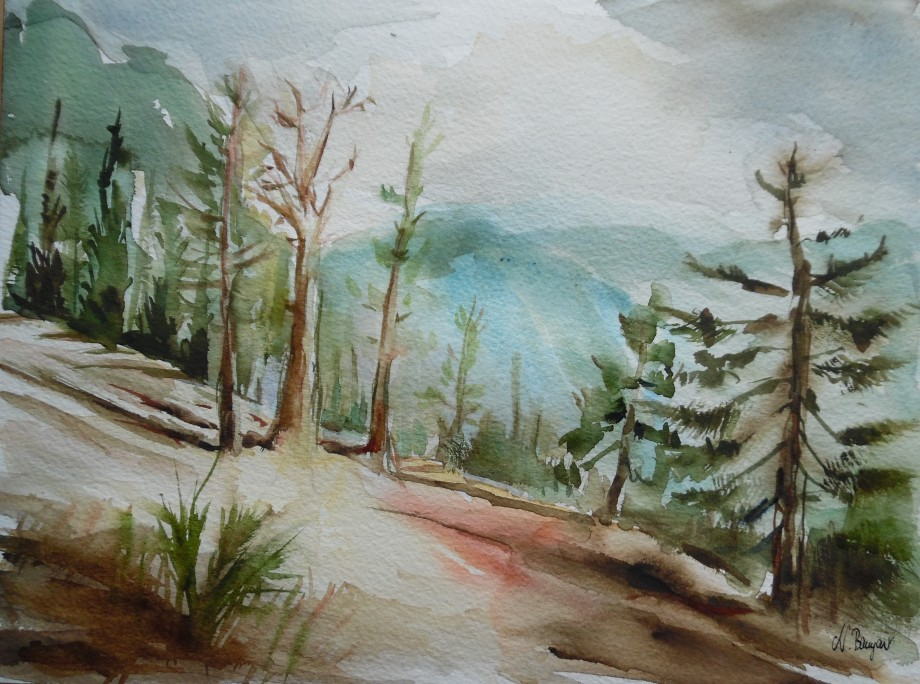 Berge-Montagna-Mountains-Aquarell-Watercolour-Nadia-Baumgart