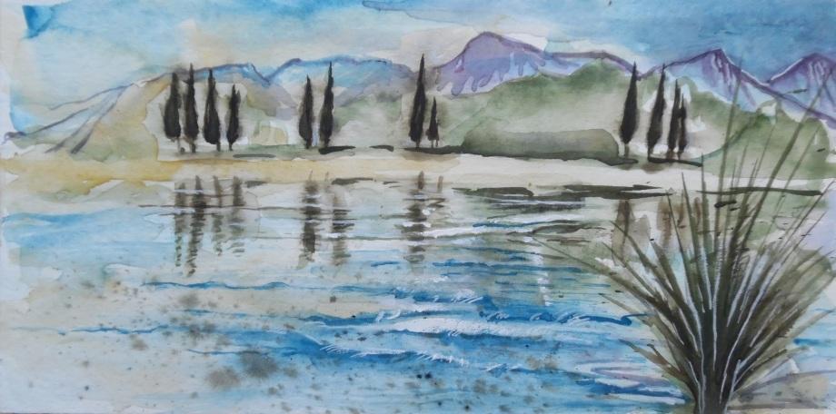 Lake-Lago-See-Nadia-Baumgart-Aquarell