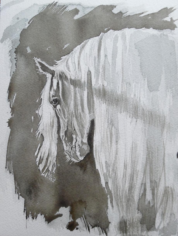 Pferd-Horse-Aquarell-Watercolour-Nadia-Baumgart