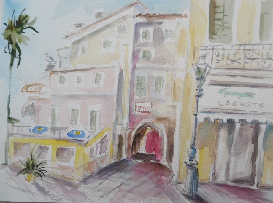 Alassio-Aquarell-Watercolour-Nadia-Baumgart