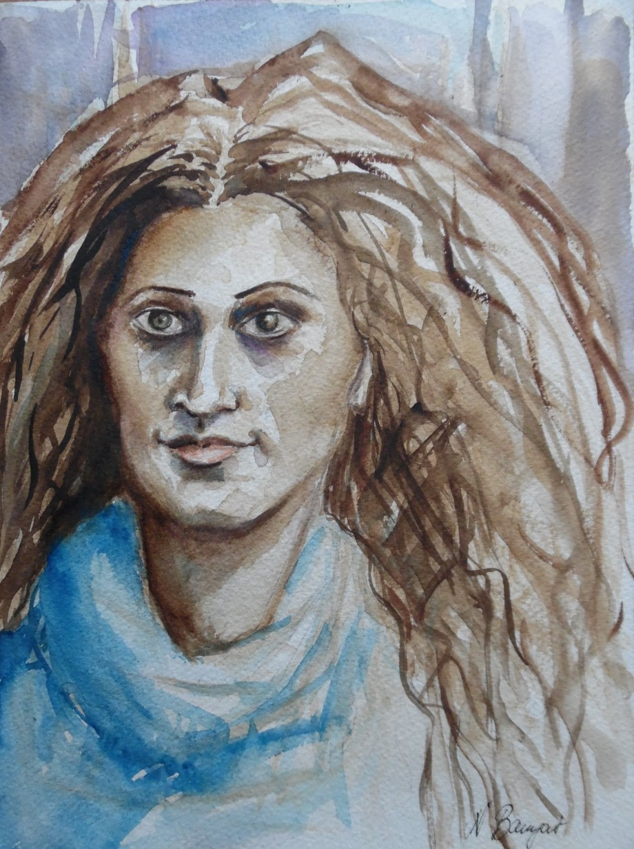Bella-signora-aquarell-watercolor-Nadia-Baumgart