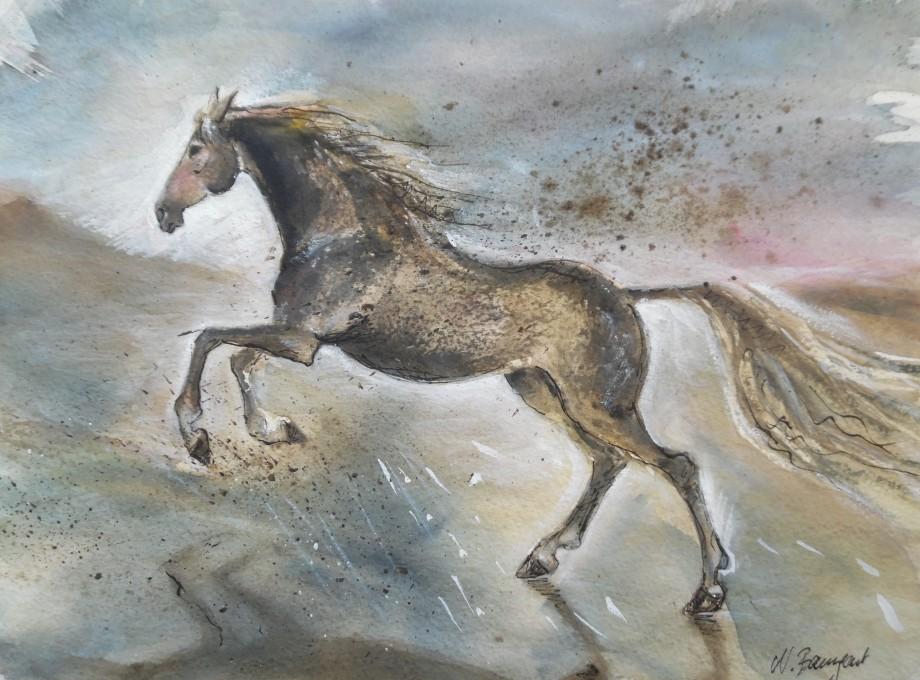 Freedom-Horse-Pferd-Aquarell-watercolor-Nadia-Baumgart-1