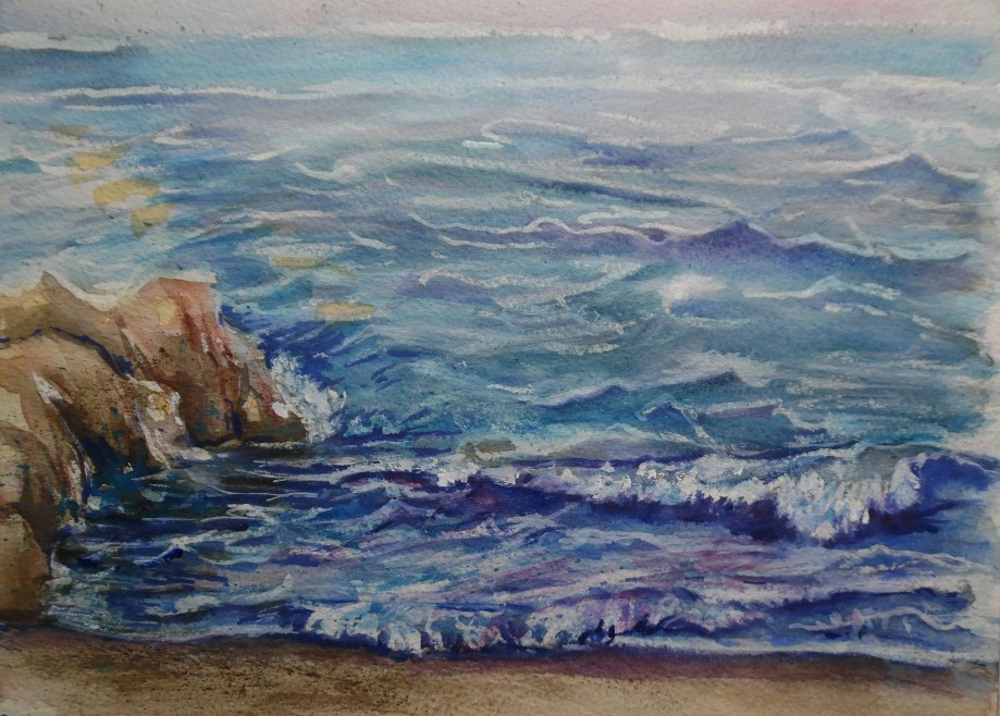 Mare-Seascape-Aquarell-Watercolour-Nadia-Baumgart