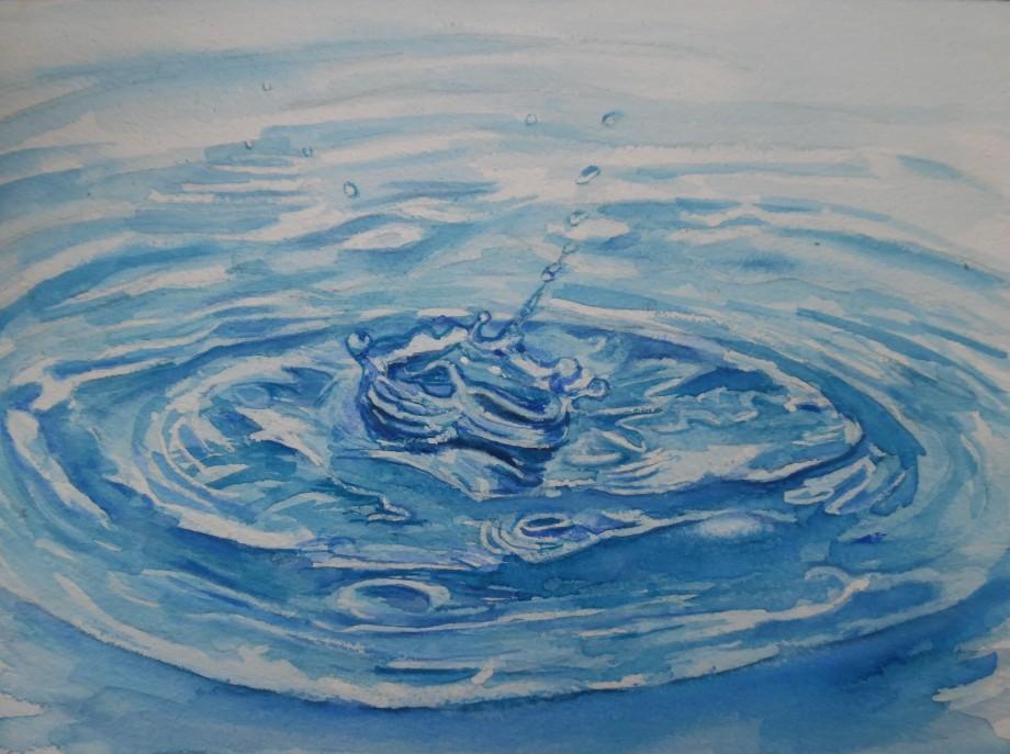Splash-Wassertropfen-Aquarell-Watercolour-Nadia-Baumgart