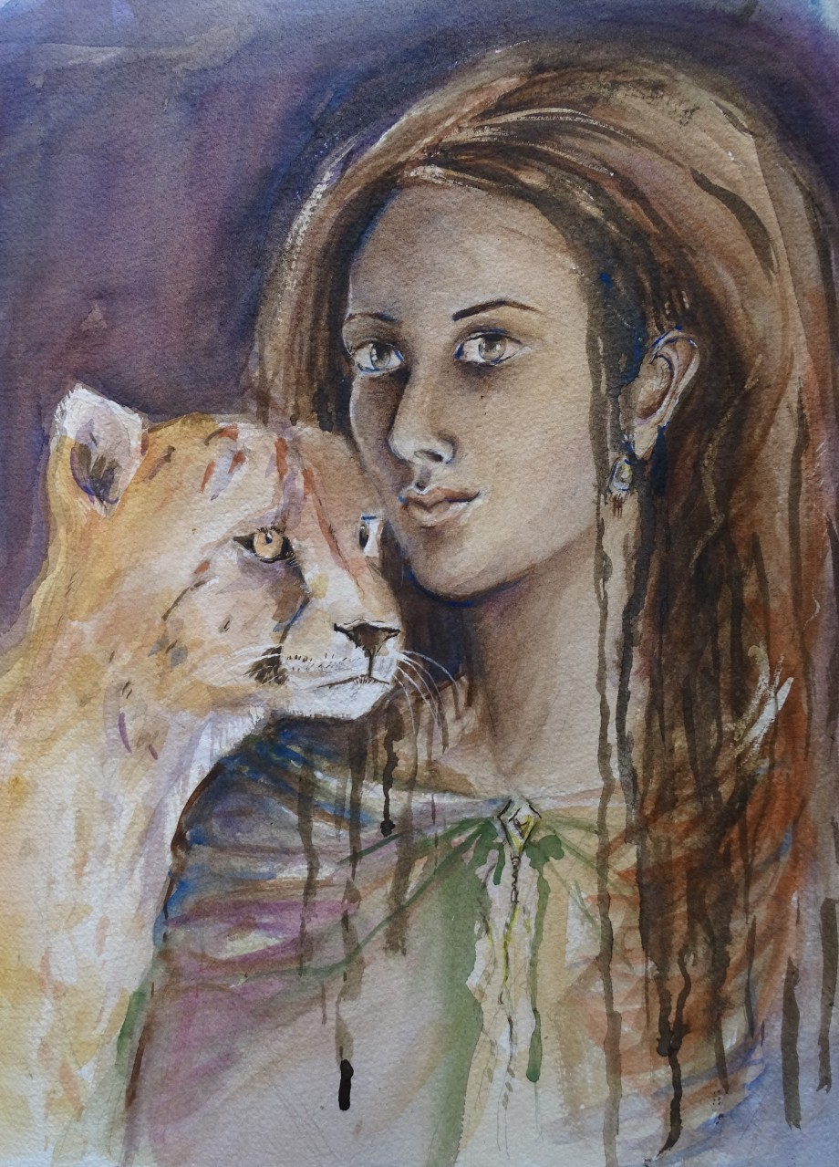 Melancolie-Aquarell-Watercolour-Nadia-Baumgart