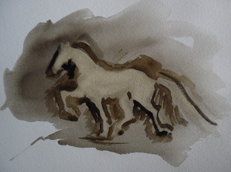 sketch-horse-Aquarell-Watercolour-Nadia-Baumgart