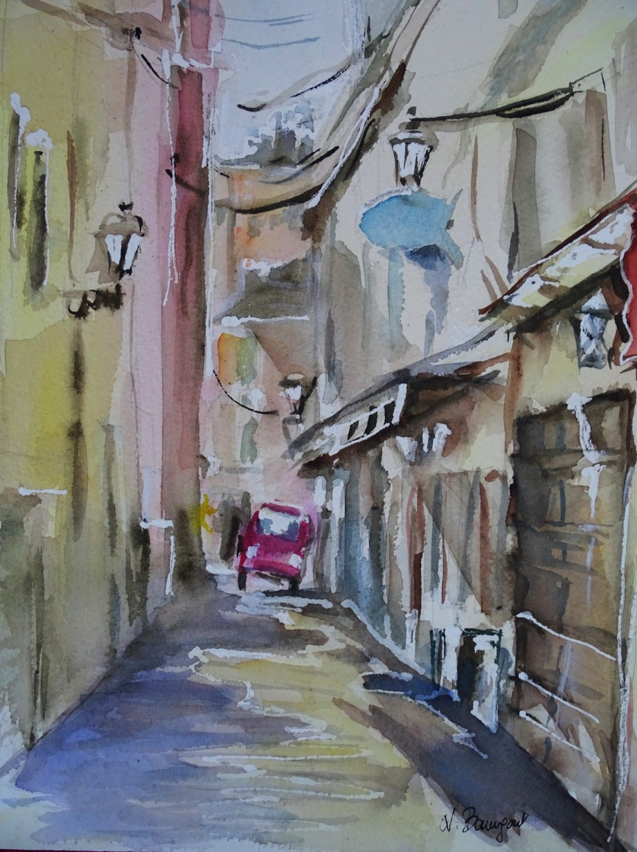 Alassio-Liguria-Aquarell-Watercolour-Nadia-Baumgart