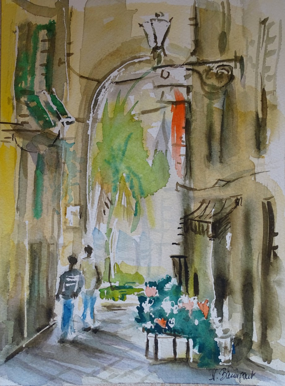 Albenga-Aquarell-Watercolour-Nadia-Baumgart-2