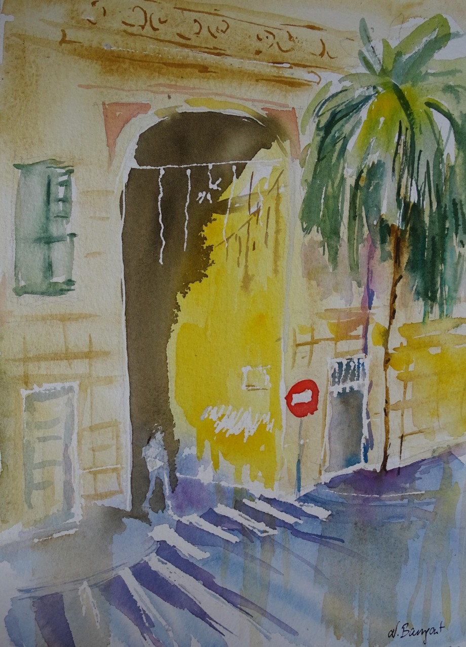 Albenga-Aquarell-Watercolour-Nadia-Baumgart