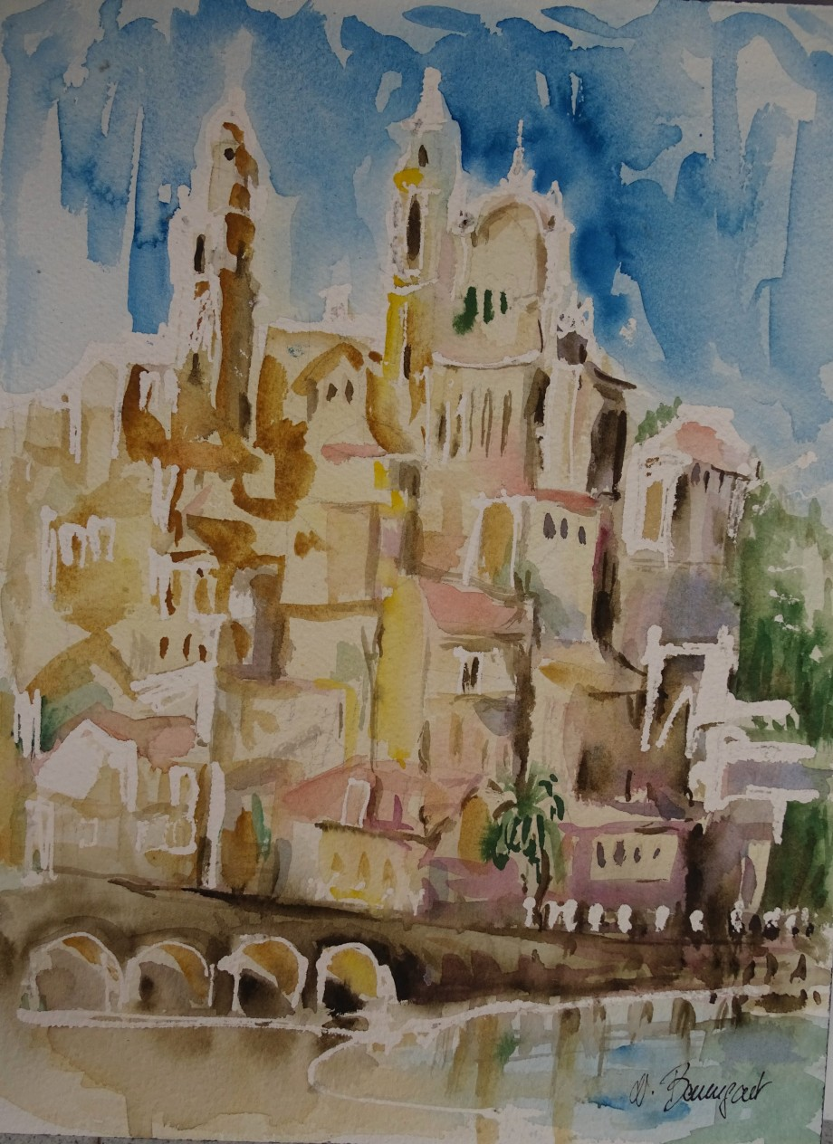 Cervo-Aquarell-Watercolour-Acquerello-Nadia-Baumgart