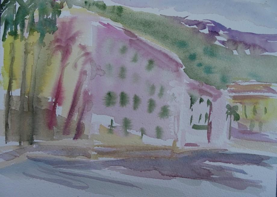 Riviera-Aquarell-Watercolour-Nadia-baumgart