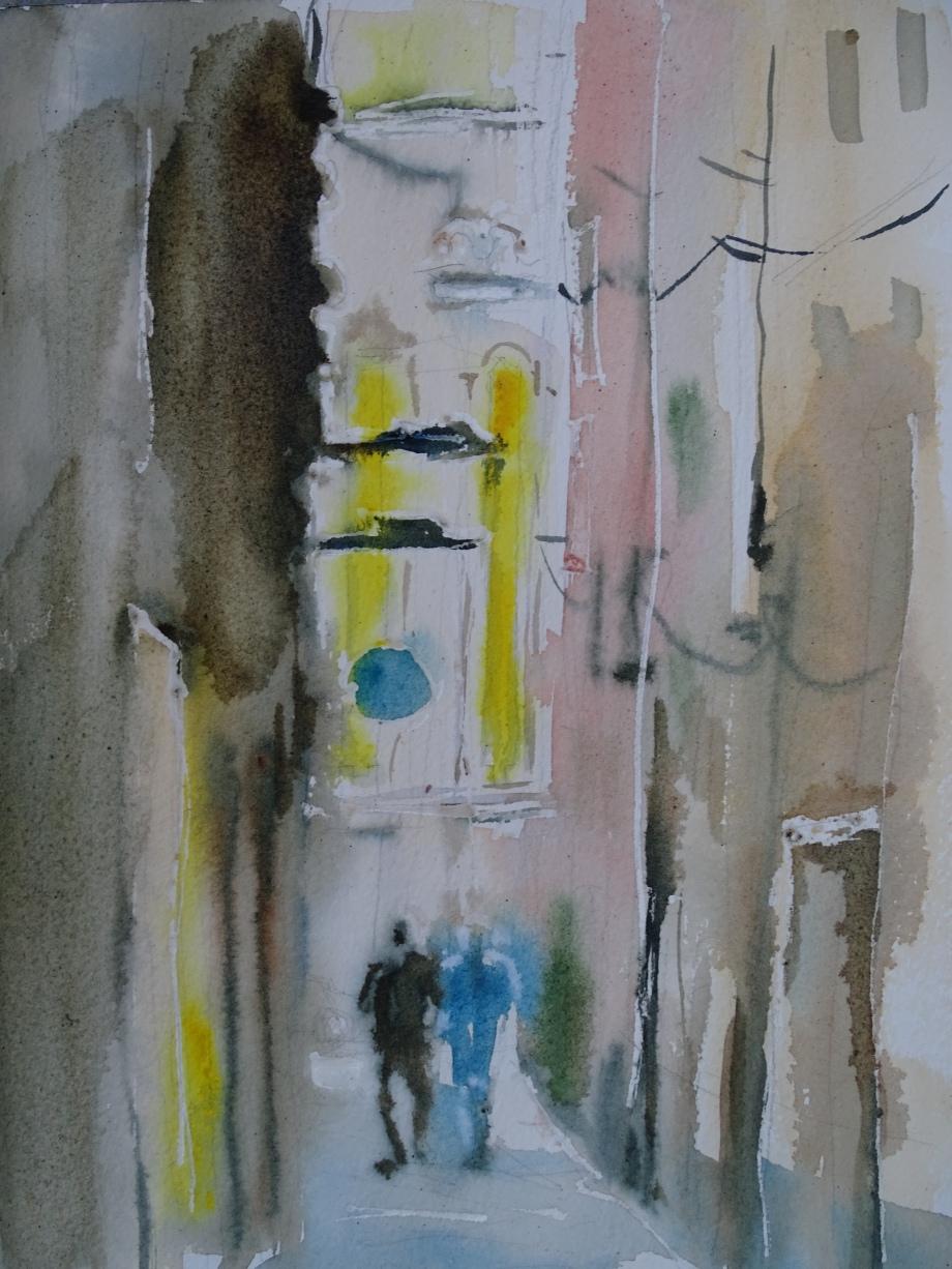 Savona-Aquarell-Watercolor-Nadia-Baumgart