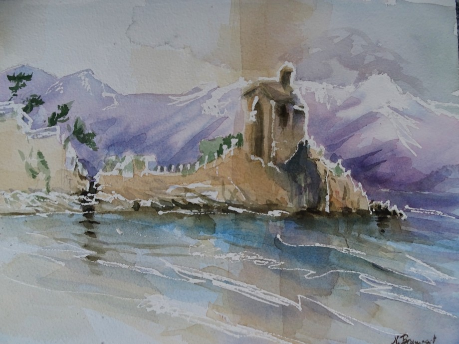 Alassio-Liguria-Aquarell-Watercolour-Nadia-Baumgart-2