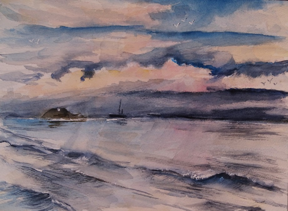 Isola-Galinara-Watercolour-Nadia-Baumgart
