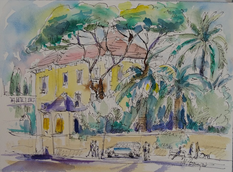 Alassio-Liguria-Aquarell-Watercolour-Nadia-Baumgart-5