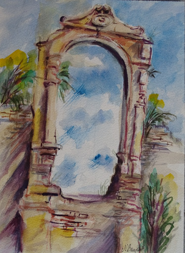 Albenga-Aquarell-Watercolour-Nadia-Baumgart-3