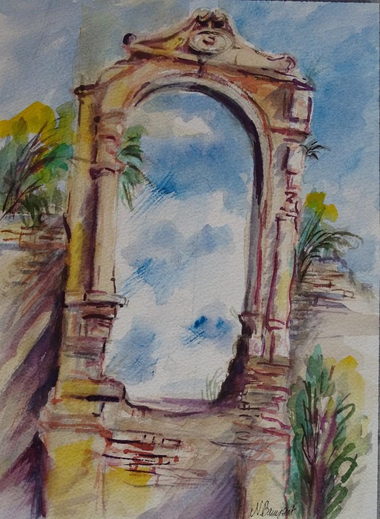 Albenga-Aquarell-Watercolour-Nadia-Baumgart-3