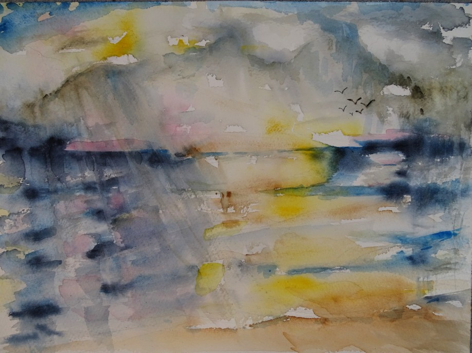 Stormy-sea-Watercolour-Nadia-Baumgart