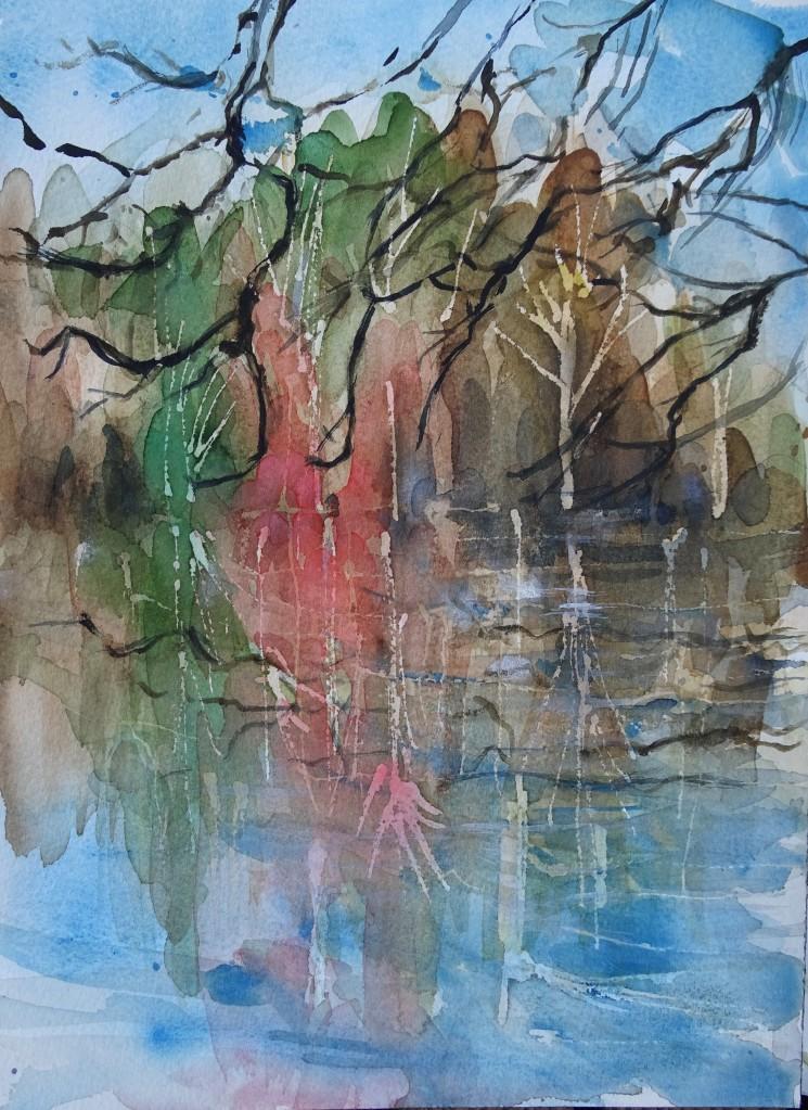 Little-lake-Aquarell-Watercolour-Nadia-Baumgart
