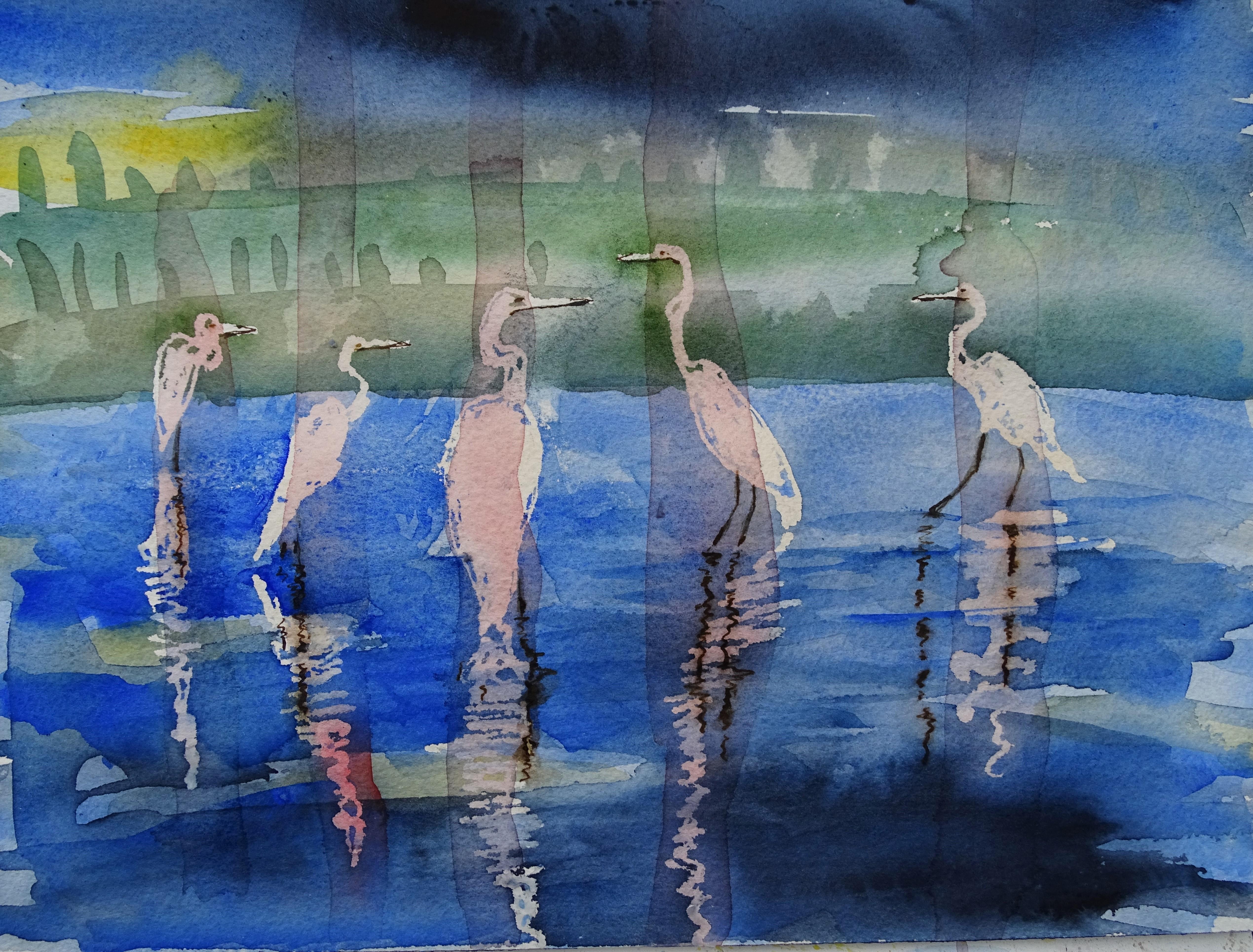 Reiher-Aquarell-Watercolour-Nadia-Baumgart