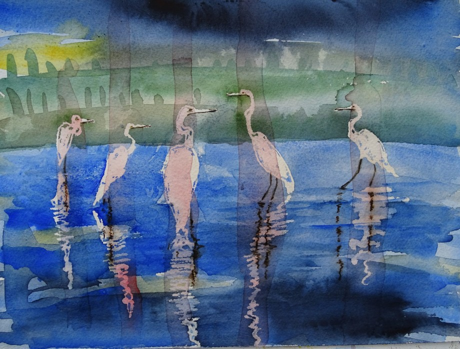 Reiher-Aquarell-Watercolour-Nadia-Baumgart