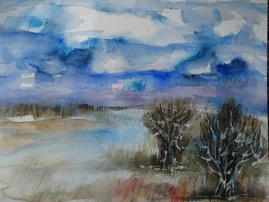 Silence-watercolor-Nadia-Baumgart