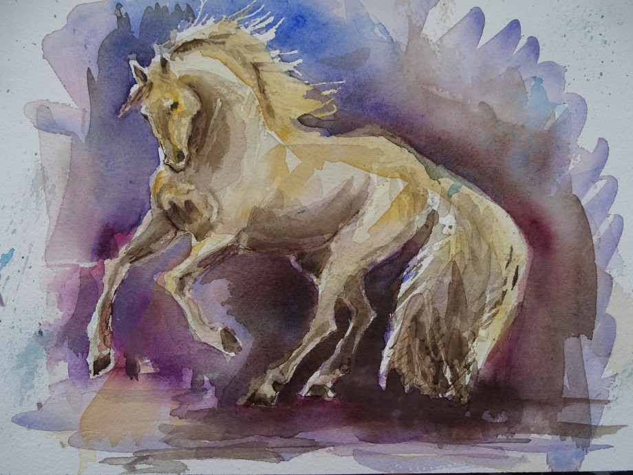 Horse-Pferd-Aquarell-Nadia-Baumgart