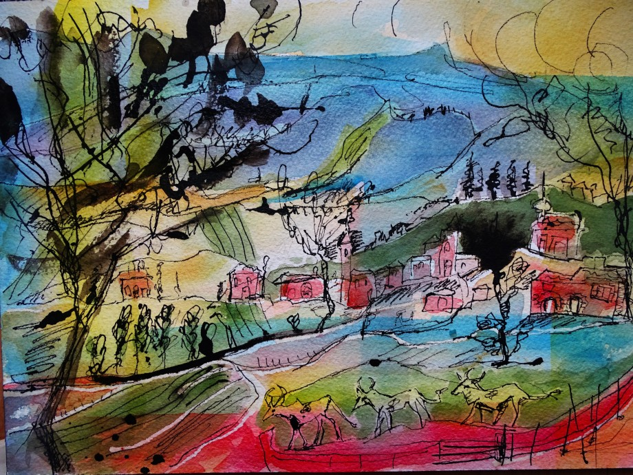 Landscape-Bavaria-Watercolour-Nadia-Baumgart