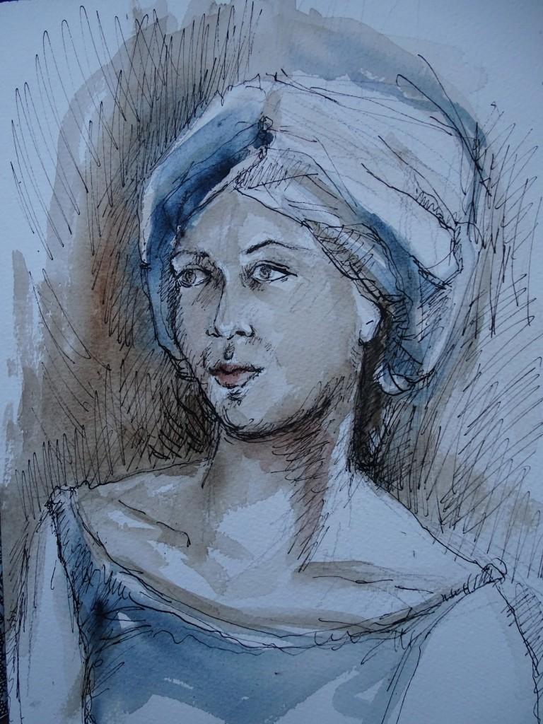 Portrait-Aquarell-Nadia-Baumgart