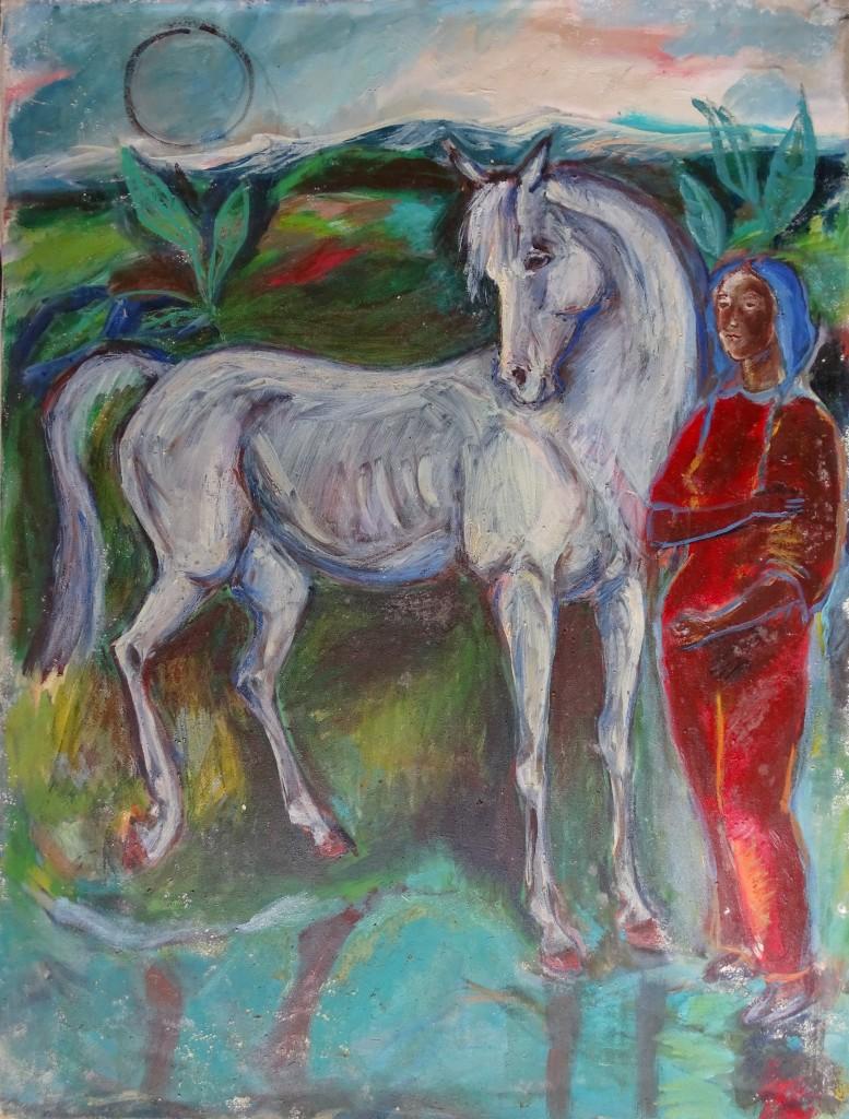 Cheval-blanc-aquarell-Nadia-Baumgart