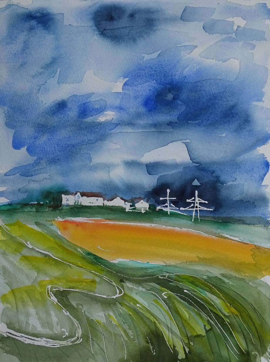 Aquarell-Bad-Birnbach-Umgebung
