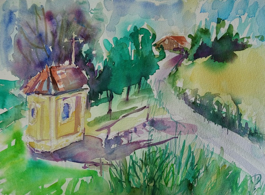 Bad-Birnbach-Aquarell-Bavaria-Watercolour-Nadia-Baumgart