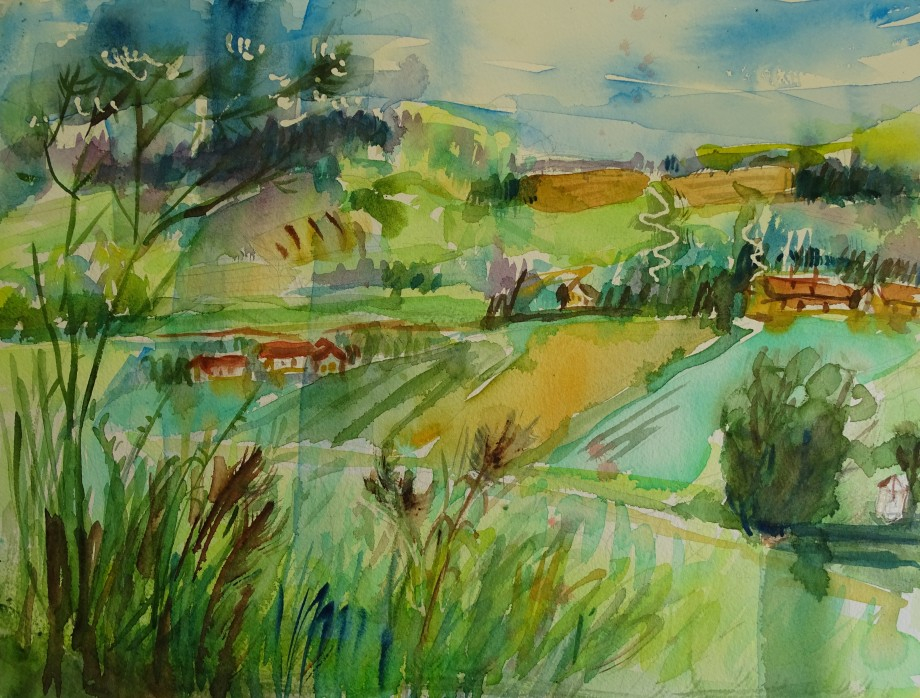 Aquarell-Bad-Birnbach-Watercolor-Nadia-Baumgart
